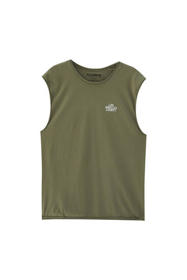 Vest top with illustration