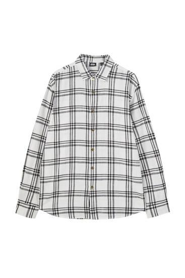 חולצת BASIC מכותנה עם שרוולים ארוכים