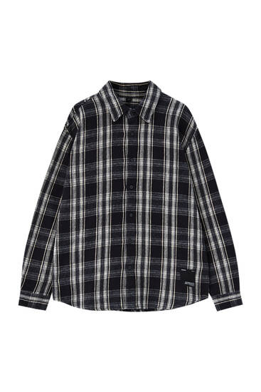 Check cotton overshirt
