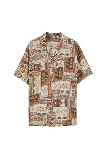 Printed shirt - ECOVEROTM viscose (at least 75%)