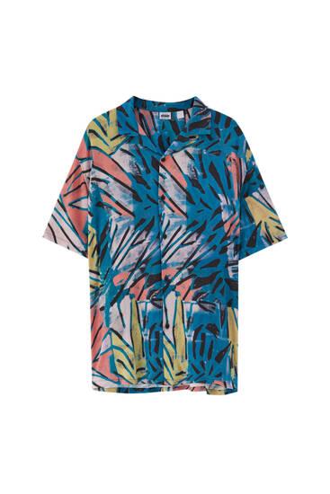 חולצה עם שרוולים קצרים - 100% ויסקוזה ECOVEROTM