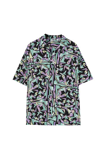 Multicoloured print shirt