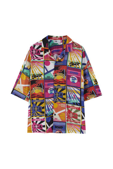 Multicolored Hawaii print shirt