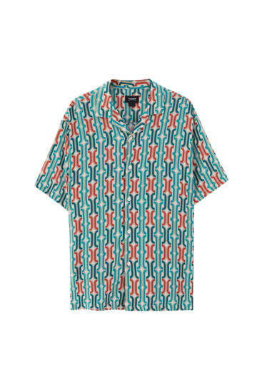 Geometric print short sleeve shirt