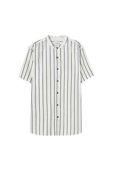 Camisa básica algodón cuello mao
