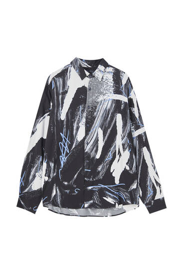 Camisa brochazos pintura