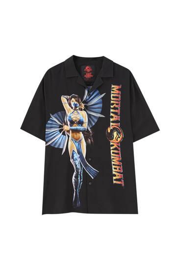 חולצת Mortal Kombat בצבע שחור