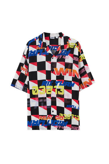 Košulja s trkačkim dezenom
