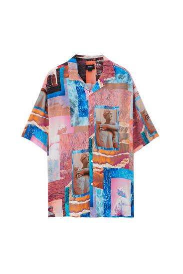 Camisa estampada arty