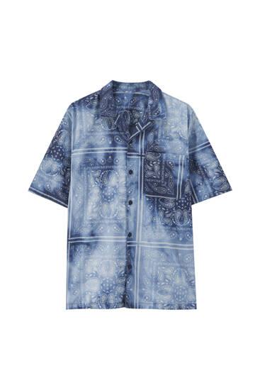 Paisley tie-dye print shirt