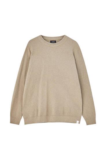 Ελαφρύ πουλόβερ με πλέξη με ανάγλυφη υφή