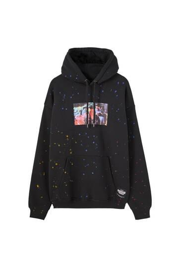 Stranger Things tie-dye logo hoodie