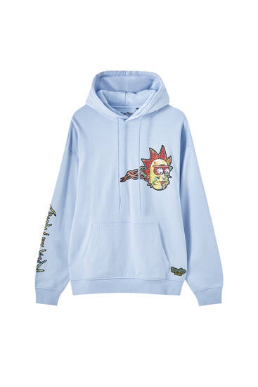 Sky blue Rick and Morty sweatshirt
