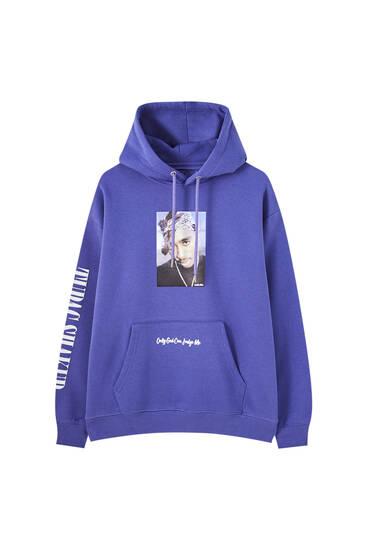 Sudadera violeta Tupac