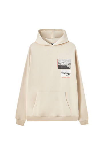 STWD comfort fit hoodie with photographic print