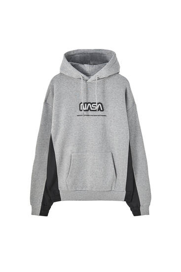 NASA hoodie with a reflective color block