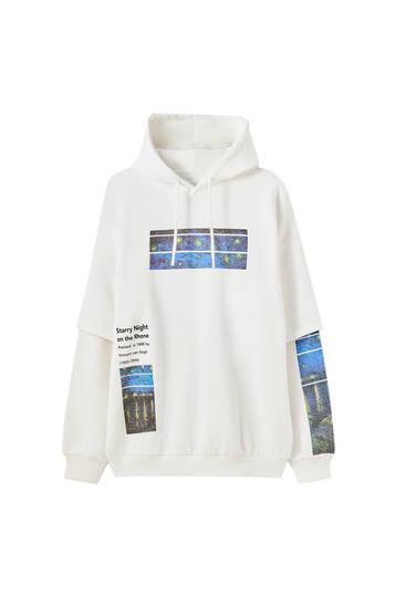 White Van Gogh hoodie