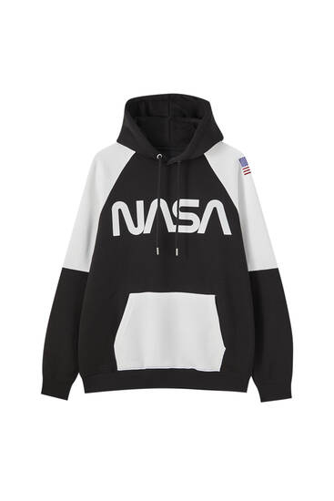 NASA hoodie with contrast colours