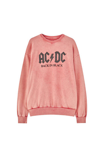 Sweat rouge AC/DC «Back in Black»