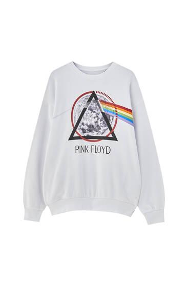 Pink Floyd logo white sweatshirt