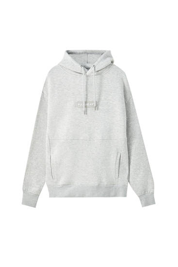 Basic-Sweatshirt mit Logo in gummiertem Finish