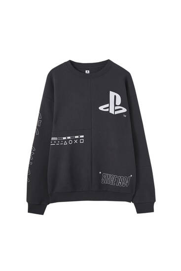 Black PlayStation sweatshirt with logo