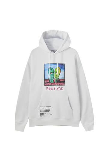 Pink Floyd white hoodie