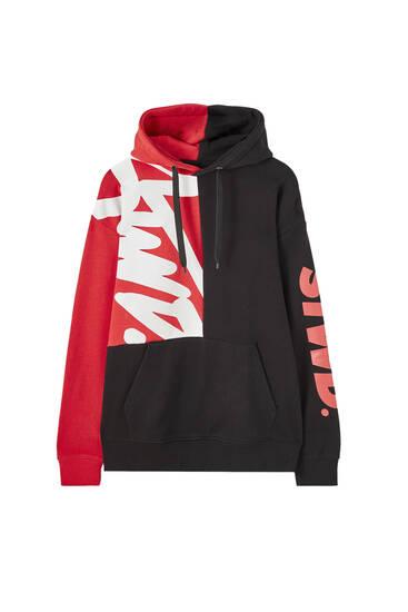 STWD colour block hoodie