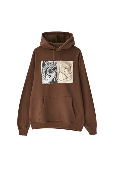 Brown photograph hoodie