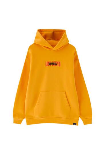 Oversize mustard hoodie