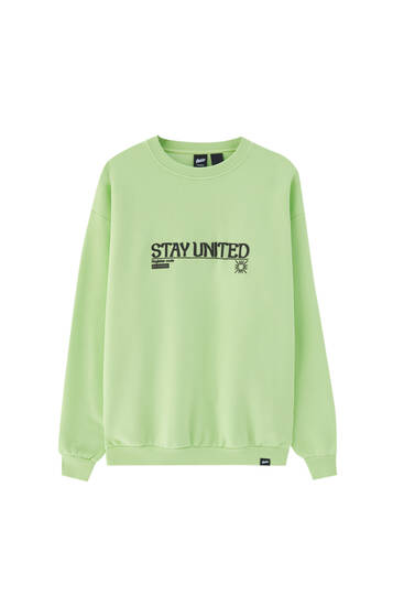 Oversized limoen STWD sweater
