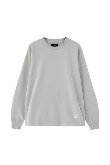 Basic round neck sweatshirt - ecologically grown cotton (at least 75%)