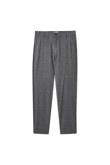 Pantalón tailoring cuadros contraste
