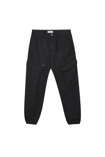 Basic garment-dyed cargo trousers