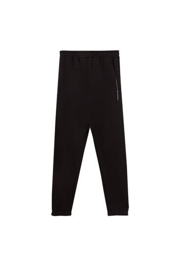 Contrast logo jogging trousers