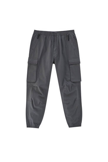Short ripstop cargo trousers