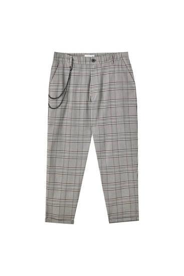Tailored szabású nadrág lánccal