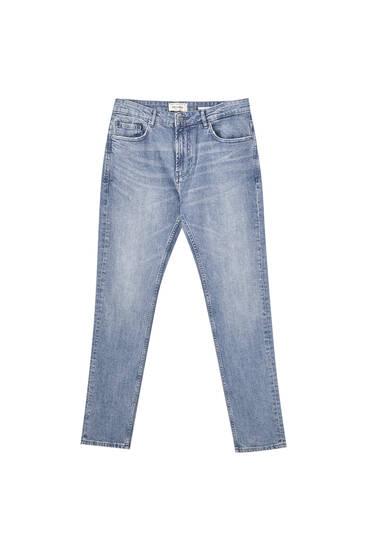 Blue slim comfort fit jeans