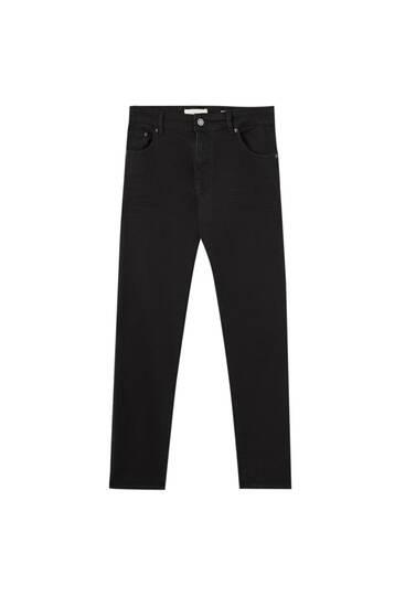 Μαύρο ελαστικό τζιν παντελόνι skinny