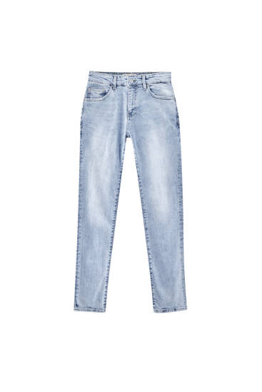 Light blue skinny fit jeans - Contains recycled cotton