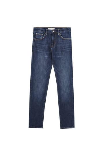 Τζιν παντελόνι skinny basic σε σκούρο μπλε χρώμα