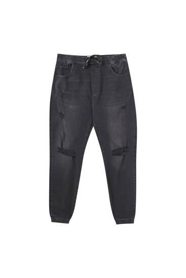 Джинси-джогери з кишенями та подертостями