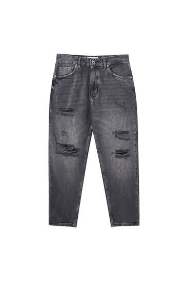 Jeans relaxed fit rotos pernera