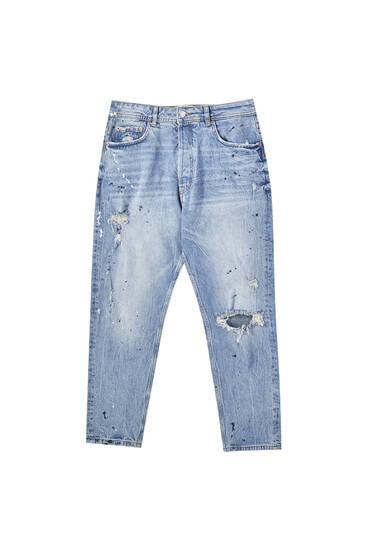 Вінтажні джинси вільного крою
