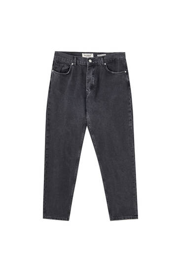 Relaxed fit cotton jeans
