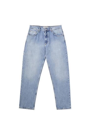 Τζιν παντελόνι με φαρδύ μπατζάκι
