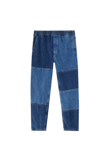 Patchwork jeans in joggingmodel
