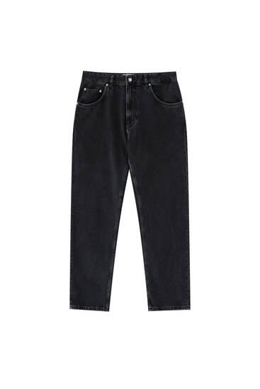 Прямі джинси з вінтажним ефектом