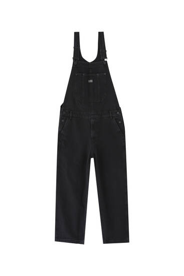 Basic long denim dungarees