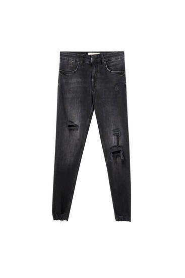 Premium ripped skinny fit jeans